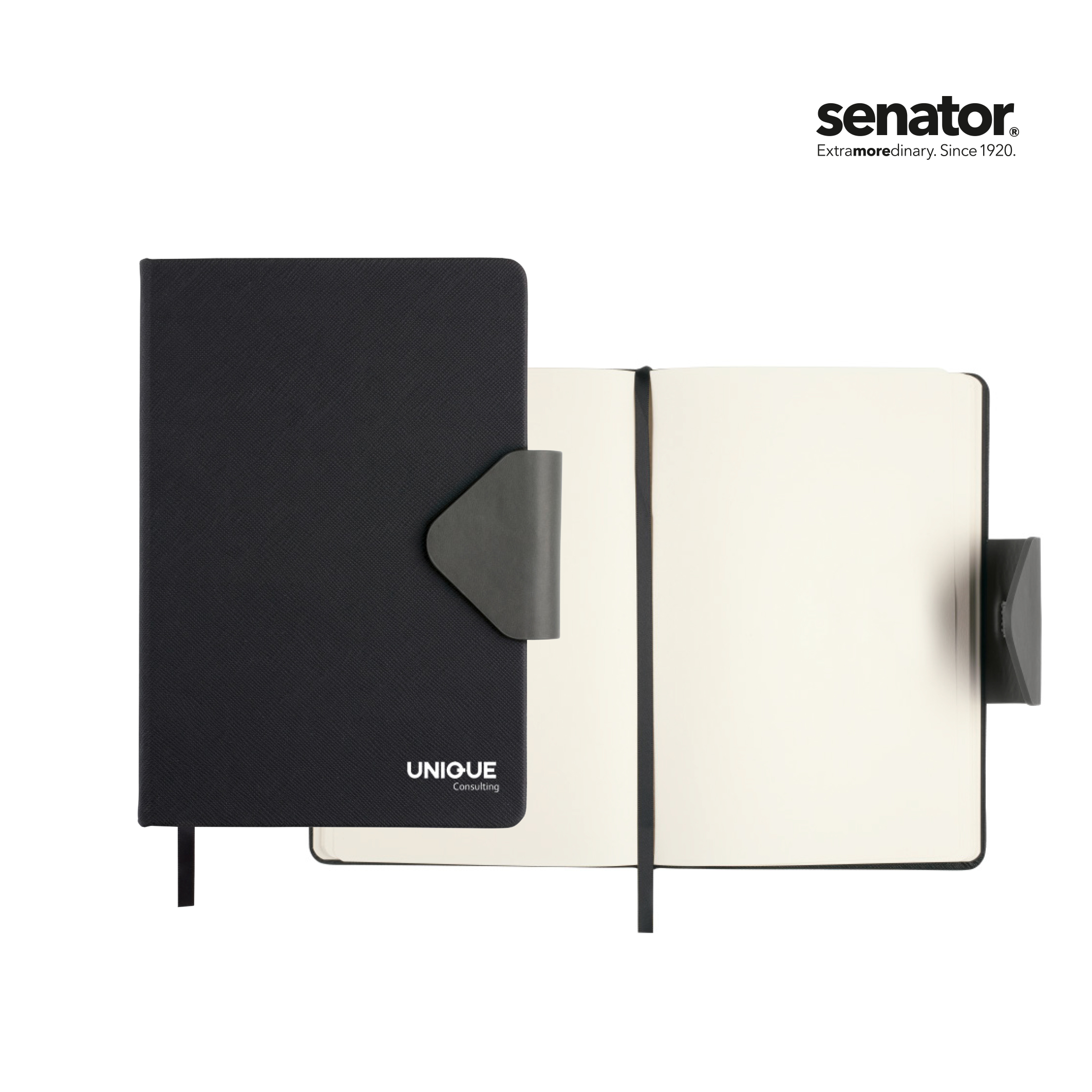 senator Notebook with structure and magnet